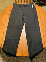 Croft & Barrow Classic Fit Dress Pants Black Men's Size 36 X 32 No Iron Stretch