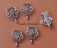 10pcs Tibetan Silver Connectors Bail Beads For Pendant Fit Charm Necklace 3031