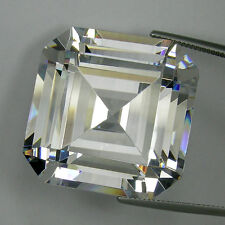 200+ Cts Huge Asscher Emerald (30x30 MM) Lab Simulated White Diamond AAA N8