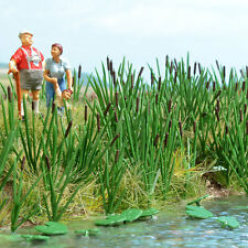 OO/HO Marsh / Wetland - Bull rushes,120 cattail plants Busch 1256 free post F1