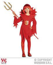 Childrens Deluxe Red Devil Costume Halloween Vestito 5-7 Anni