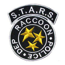 RESIDENT EVIL S.T.A.R.S. Raccoon Police IRON ON PATCH