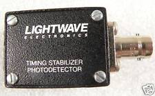 LIGHTWAVE ELECTRONICS TIMING STABILIZER PHOTODETECTOR..