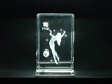 LASER CRYSTAL PAPERWEIGHT STAR SIGN ZODIAC VIRGO