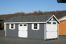 AMISH BUILT 12x28 A-FRAME WOOD GARDEN SHED