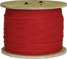 "18/2 UNSHIELDED SOLID FIRE ALARM CABLE ""FPLP"" PLENUM RED 1000FT US MADE"