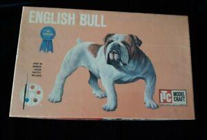 "Vintage ITC Model Craft ""English Bull"" Dog Model with Box"