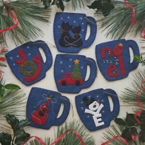 Merry Mugs Felt Ornament Kit by Rachel's of Greenfield *Free Shipping*