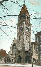 Reading Pennsylvania~Memorial Church of Holy Cross~Clock Tower~Streetview 1905