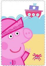 PEPPA PIG SOFT FLEECE BLANKET Girls Boys Kids Official Character Throw Bed Sofa