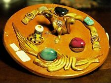 Incense Burner Holder-Squirrel-For Sticks-Peru,ODD-A66,2.8oz,3-3/4x3-3/4x.3/4in