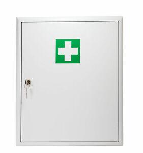 Verbandschrank weiß Stahlblech Erste Hilfe Kasten mit FÜLLUNG DIN 13169 / 620271