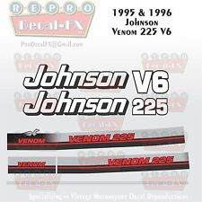 1995-96 Johnson Venom 225 HP V6 Reproduction Outboard 9 Pc Marine Vinyl Decals