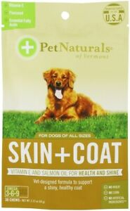 Skin + Coat for Dogs by Pet Naturals of Vermont, 30 chews 1 pack