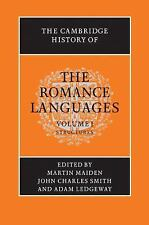 The Cambridge History Of The Romance Languages: Volume 1, Structures