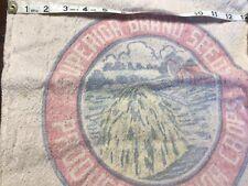 Vintage Superior Brand Feed Sack Seed Bag Intact Nice