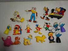 Konvolut Werbefiguren Kunststoff Disney Goofy Jolly Jumper Schlümpfe