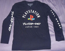 AUTHENTIC Long-Sleeve PLAYSTATION Japan 1994 Shirt L/Lrg LICENSED 2018 PS1 RARE