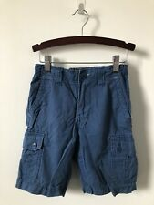 Kids GAP Boys Blue Cargo Shorts Size 7 Regular