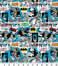 Batman Comic Strip Fabric  100% Quality Cotton