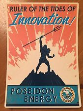 Tin Sign Vintage Fallout Poseidon Energy Ruler Of The Tides Of Innovation