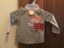 "Mudpie Long Sleeve ""Mister Chrismoose� Top. 12-18 Month New with Tags"