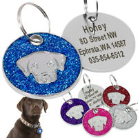 Personalised Dog ID Tags Engraved Name Free Pet Custom Labrador Tags with Bell