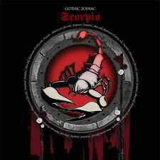 Scorpio Gothic Zodiac Birthday Card for him/her or any occasion red & black