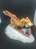 Disney Pooh and Friends Figurine - Tigger and Roo - Look Out Snow! Here We Go!