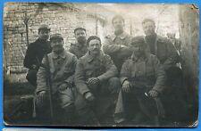 CPA PHOTO: 7 poilus d'un régiment d'infanterie / Guerre 14-18