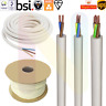 WHITE ROUND FLEXIBLE CABLE 2 3 4 CORE 0.5 MM 0.75MM 1.0MM 1.5MM 2.5MM FLEX