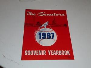 1967 WASHINGTON SENATORS BASEBALL YEARBOOK NEAR MINT