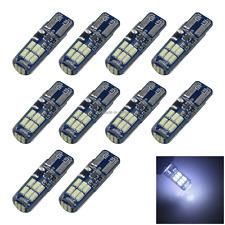 10x White RV T10 W5W Corner Light Reading Bulb Strobe 15 4014 SMD LED Z2806