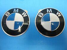 "2 Genuine Wheel Center Cap Emblems BMW OEM# 36131181080 65 mm 2.5"" Adhesive DIY"