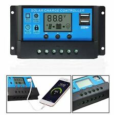 30A 12V/24V Solar Panel Charger Controller Battery Regulator USB LCD
