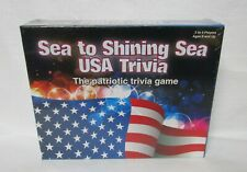 U.S.A. Patriotic Trivia Board Game Sea to Shining Sea 2-4 Players Ages 8+ Gift