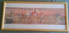 Watercolor Painting by JW Dunn Military Parade At Ready Framed Glass
