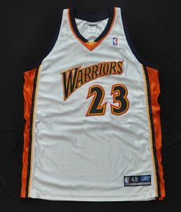 JASON RICHARDSON Golden State Warriors Jersey White Authentic NBA Sewn 48 XL