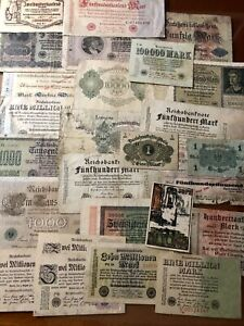 EARLY 1900'S GERMANY PAPER MONEY LOT GERMANY CURRENCY