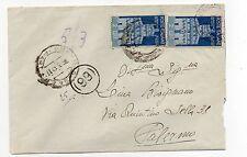 STORIA POSTALE 1947 REPUBBLICA LIRE 2+2 SU BUSTA RAGUSA 16/3 D07514