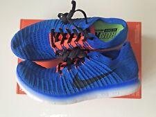 Zapatos Deportivos Nike Free rn Flyknit Zapatillas Size UK 7.5 Azul/Naranja