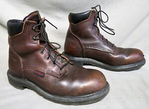 MENS RED WING BROWN LEATHER HIKING FARM WORK BOOTS US SIZE 10 EE