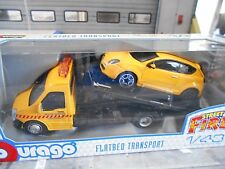 IVECO Daily Transporter Autotransporter + Alfa Romeo Mito gelb Bbruago  1:43