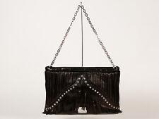 New Jimmy Choo Studded Black Leather Handbag with Chain