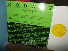 KODALY: Choral works, volume 3 > Vasarhelyi / Hungaroton-Qualiton stereo LP