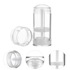 6pcs Empty Deodorant Containers Practical Plastic Round Clear Twist-Up Bottles