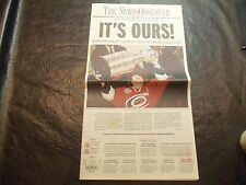 2006 Stanley Cup Finals Newspaper  Carolina  Hurricane vs Edmonton Oilers