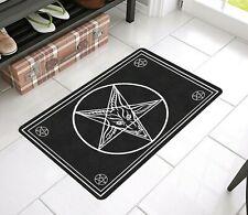 Satanic Goat Baphomet Satan Door Mat Rug Satanic home decor 666 Occult