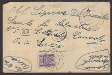 POSTA MILITARE 1940 Lettera da PM 263 a Cannole (FMB) Tassata