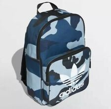 Auténticos Adidas Originals Azul Clásico Camo Mochila Bolso Nuevo Trébol Mochila